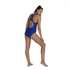 speedo Retro Logo Medalist Swimsuit Women, blu